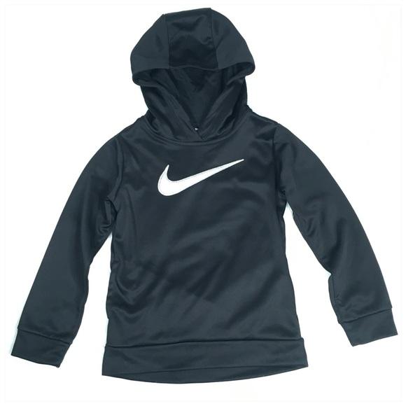 Nike Other - Nike Girls Therma Hoodie in Black Silver Glitter